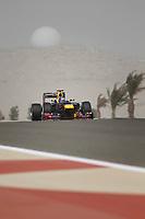 MOTORSPORT - F1 2012 -  BAHRAIN GRAND PRIX - SAKHIR (BHR) - 19 TO 22/04/2012 - PHOTO : FREDERIC LE FLOC'H / DPPI - <br /> VETTEL SEBASTIAN (GER) - RED BULL RENAULT RB8 - ACTION