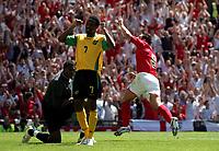 Photo: Paul Thomas.<br /> England v Jamaica. International Friendly. 03/06/2006.<br /> <br /> Frank Lampard celebrates his goal (R).