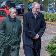 NLD/Laren/20121031 - Uitvaart Joop Stokkermans, Marnix Kappers en partner John Kuiper