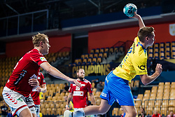 during handball match between RK Celje Pivovarna Lasko (SLO) and Aalborg Handbold (DEN) in Group Phase B of EHF Champions League 2020/21, on 16 September, 2020 in Arena Zlatorog, Celje, Slovenia. Photo by Grega Valancic / Sportida