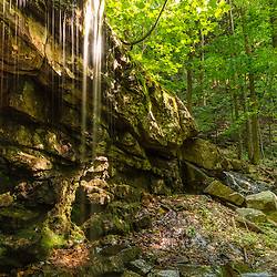 A small waterfall in the forest on Mount Ascutney in West Windsor, Vermont.