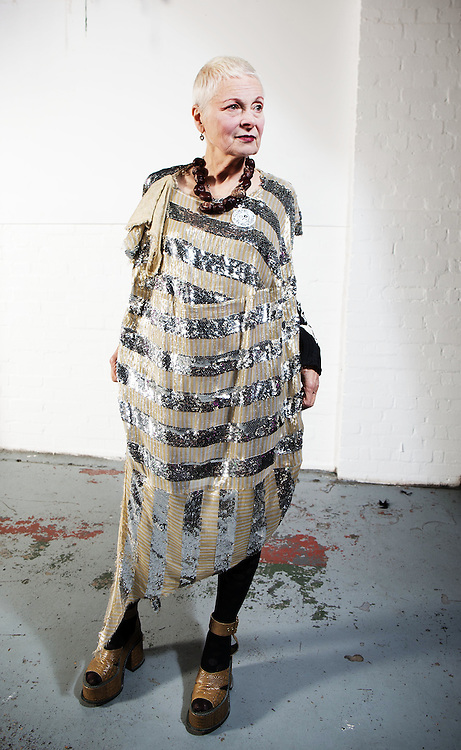 """Dame Vivienne Westwood backstage at  Fracking Hell night hosted by Dame Vivienne Westwood & her son Joe Corre on Saturday 4th October. 2014.<br /> <br /> <br /> Fracking Hell was in association with a transvestite night called """"Handsome"""" to raise awareness and appeal to the gay vote to look at Fracking."""