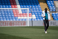 Leeds United U23 players walks alone during the U23 Professional Development League match between U23 Crystal Palace and Leeds United at Selhurst Park, London, England on 15 April 2019.