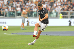 August 25, 2018 - Turin, Piedmont, Italy - Cristiano Ronaldo (Juventus FC) before the Serie A football match between Juventus FC and SS Lazio at Allianz Stadiumon august 25, 2018 in Turin, Italy. (Credit Image: © Massimiliano Ferraro/NurPhoto via ZUMA Press)