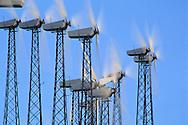 Wind turbine clean energy windmills, Altamont Pass, Alameda County, California