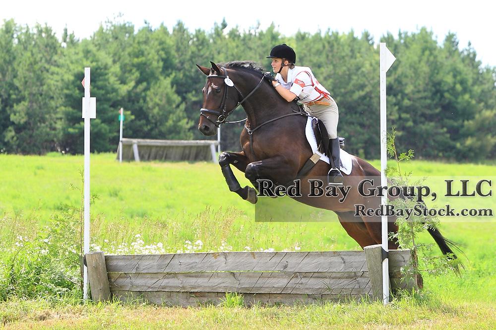 Paula Rainford and Ridgetop Contierra at Grandview Horse Trials held August 1 - 2, 2009 in Hawkestone, Ontario.