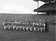 All Ireland Gaelic Football Final Senior teams Kerry v Meath in Croke park on 26th September 1954.