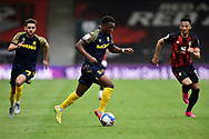 Rabbi Matondo (49) of Stoke City on the attack during the EFL Sky Bet Championship match between Bournemouth and Stoke City at the Vitality Stadium, Bournemouth, England on 8 May 2021.