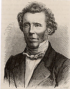 Friedrich Wohler (1800-1882) German organic chemist.  Isolated aluminium (1827), synthesised urea (1828), discovered beryllium (1828), and obtained acetylene from calcium carbide. Engraving from 'Les Merveilles de la Science' by Louis Figuier (Paris, c1870).