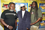 l to r: Tarique, Dorouba Bin Wahad, Kazi Toure(Former Political Prisoners) at The 2008 Black August Benefit Concert held at BB Kings on August 31, 2008..2008 begins the second decade of Black August Hip Hop Project benefit concerts which assist and support Political Prisoners. The Malcolm X Grassroots Movement is an organization whose mission is to defend the human rights of people and promote self-determination in our community.