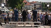 23.05.2014 Bialystok Wizyta prezesa PiS Jaroslawa Kaczynskiego w ostatnim dniu przed cisza wyborcza przed wyborami do Parlamentu Europejskiego N/z wiec fot Michal Kosc / AGENCJA WSCHOD