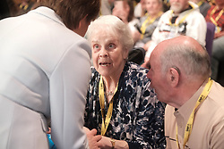 SNP Spring Conference, Saturday 27th April 2019<br /> <br /> Pictured: First Minister Nicola Sturgeon meets long time supporter Josephine Hannah<br /> <br /> Alex Todd | Edinburgh Elite media