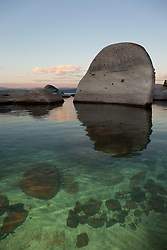 """""""Boulders at Lake Tahoe 10"""" - These boulders were photographed in the early morning near Speedboat Beach, Lake Tahoe."""