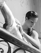 Ballerina Elianys Torres Morales of the Cuban National Ballet poses in a private mansion in Habana, Cuba.