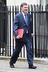 Downing Street, London, September 9th 2016.  Chief Secretary to the Treasury David Gauke arrives at Downing street for the weekly cabinet meeting following the Parliamentary summer recess.