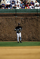 CHICAGO, IL-MARCH 1994:  NBA Hall of Famer Michael Jordan plays in the outfield during an exhibition game between the Chicago White Sox and Chicago Cubs at Wrigley Field in Chicago Illinois in 1994.  (Photo by Ron Vesely)