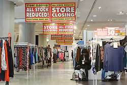 © Licensed to London News Pictures. 13/08/2016. Customers look for last minute bargains as British Homes Stores Oxford Street Flagship store closes on its last day of trading. London, UK. Photo credit: Ray Tang/LNP