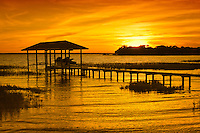 Spectacular sunset over Lake June-in-Winter in Central Florida.