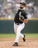CHICAGO - MAY 18:  Lucas Giolito #27 of the Chicago White Sox pitches against the Toronto Blue Jays on May 18, 2019 at Guaranteed Rate Field in Chicago, Illinois.  (Photo by Ron Vesely)  Subject:  Lucas Giolito