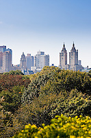 Central Park and Manhattan in New York City in October 2008