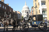 ST PAULS, SHERLOCK HOLMES FILM SET LONDON, WITH GUY RICHIE AND ROBERT DOWNEY JR  11/10/2008 High Quality Prints available ,please enquire via contact Page. Rights Managed Downloads available for Press and Media