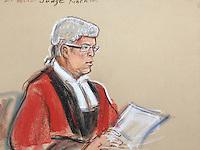 Judge Christopher Kinch QC pronoucing 7 year sentences