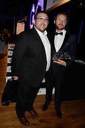 Left to right, NICK FROST and SIMON PEGG  winners of the Comedians of The Year Award at the GQ Men of The Year Awards 2013 in association with Hugo Boss held at the Royal Opera House, London on 3rd September 2013.