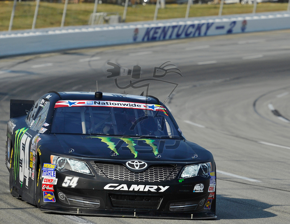 Sparta, KY - JUN 29, 2012: Kurt Busch (54) during the final practice for the Feed the Children 300 at the Kentucky Speedway in Sparta, KY.