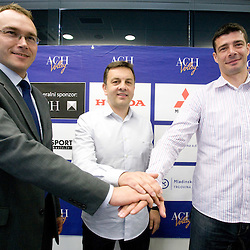 20100526: SLO, Introduction of new coaches of ACH Volley Igor Kolakovic and Dragan Kobiljski