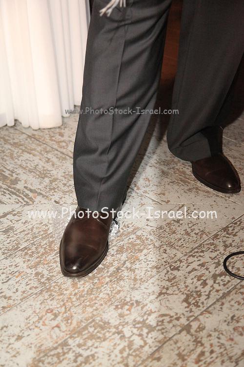 Jewish wedding ceremony Groom breaks the glass
