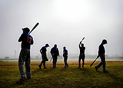 The Spotswood baseball squad runs through their pre-game routine prior to the scrimmage against Raritan held at Raritan High School in Hazlet on March 17.