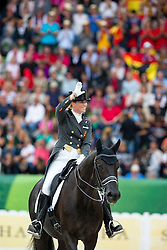 Morgan Barbancon Mestre, (ESP), Painted Black - Grand Prix Special Dressage - Alltech FEI World Equestrian Games™ 2014 - Normandy, France.<br /> © Hippo Foto Team - Leanjo de Koster<br /> 25/06/14