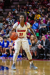 NORMAL, IL - December 20: Te Te Maggett during a college women's basketball game between the ISU Redbirds and the St. Louis Billikens on December 20 2018 at Redbird Arena in Normal, IL. (Photo by Alan Look)