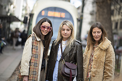 February 26, 2019 - Milan, Italy - Dolce and Gabbana.Streetstyle, ppl, People on street, Woman, Milan fashion week 2019 Women ready to wear for Fall Winter, Autumn, Herbst Milano, Mailand, Italy .People on Street, StreetStyle, Fashion, Style, Trend, Look, Outfit. (Credit Image: © FashionPPS via ZUMA Wire)