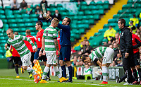 05/10/14 SCOTTISH PREMIERSHIP<br /> CELITC v HAMILTON<br /> CELTIC PARK - GLASGOW<br /> Celtic's John Guidetti (2nd from left) is brought off for replacement Leigh Griffiths