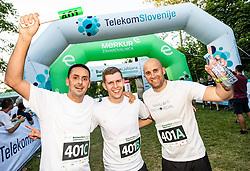 Martin Pavcnik, Marko Rabuza and Bostjan Boh at Business Run 2019, on June 13, 2019 in Park Tivoli, Ljubljana, Slovenia. Photo by Vid Ponikvar / Sportida