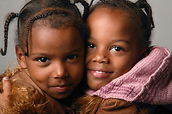 Portrait of two sisters,