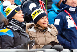 February 9, 2019 - Re, SWEDEN - 190209 Crown Princess Victoria and Queen of Sweden Silvia at the men's downhill during the FIS Alpine World Ski Championships on February 9, 2019 in re..Photo: Joel Marklund / BILDBYRN / kod JM / 87853 (Credit Image: © Joel Marklund/Bildbyran via ZUMA Press)
