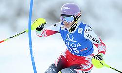 29.12.2014, Hohe Mut, Kühtai, AUT, FIS Ski Weltcup, Kühtai, Slalom, Damen, 1. Durchgang, im Bild Michaela Kirchgasser (AUT) // Michaela Kirchgasser of Austria in action during 1st run of Ladies Slalom of the Kuehtai FIS Ski Alpine World Cup at the Hohe Mut Course in Kuehtai, Austria on 2014/12/29. EXPA Pictures © 2014, PhotoCredit: EXPA/ Erich Spiess