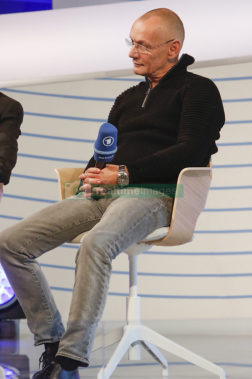 October 10, 2018 - Frankfurt, Hesse, Germany - German actor Torsten Michaelis is pictured at a talk at the Frankfurt Book Fair. The 70th Frankfurt Book Fair 2018 is the world largest book fair with over 7,000 exhibitors and over 250,000 expected visitors. It is open from the 10th to the 14th October with the last two days being open to the general public. (Credit Image: © Michael Debets/Pacific Press via ZUMA Wire)