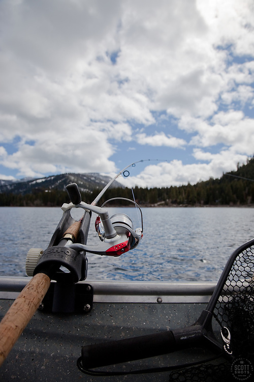"""""""Fishing Pole at Lake Tahoe 4"""" - This fishing pole was photographed on the West shore of Lake Tahoe."""