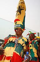 Photo: Steve Bond/Richard Lane Photography.<br />Ghana v Guinea. Africa Cup of Nations. 20/01/2008. Ghana fan with big hat