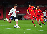 Football - 2019 / 2020 season - International Friendly - England vs Wales - Wembley Stadium.<br /> <br /> Jack Grealish of England crosses the ball for Calvert - Lewin to score goal no .1<br /> <br /> COLORSPORT/ANDREW COWIE