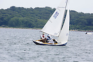 _V0A8095. ©2014 Chip Riegel / www.chipriegel.com. The 2014 Bullseye Class National Regatta, Fishers Island, NY, USA, 07/19/2014. The Bullseye is a Nathaniel Herreshoff designed 15' Marconi rig sailing boat.