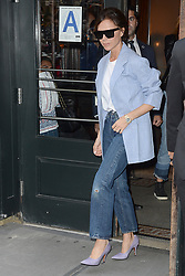September 10, 2017 - New York, NY, USA - September 10, 2017 New York City..Victoria Beckham was seen leaving  Balthazar in New York City on September 10, 2017. (Credit Image: © Kristin Callahan/Ace Pictures via ZUMA Press)