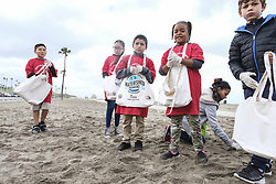 May 23, 2019 - Playa Del Rey, CA, USA - 4,000 students came from different schools from around Los Angeles to help clean and celebrate the twenty-sixth annual Kids Ocean Day at Dockweiler State Beach on May 23, 2019 (Credit Image: © Jason RyanZUMA Wire)
