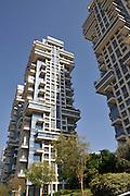 Israel, Tel Aviv Akirov Modern high rise buildings on Pinkas street