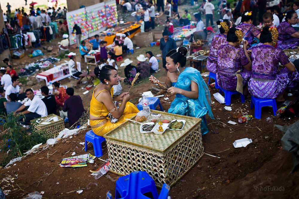 People celebrate the Lunar New Year in Xishuangbanna Yunnan in China.