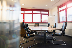 Empty office with conference table, Munich, Bavaria, Germany