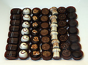 Belgium Brussels a display of hand made chocolates